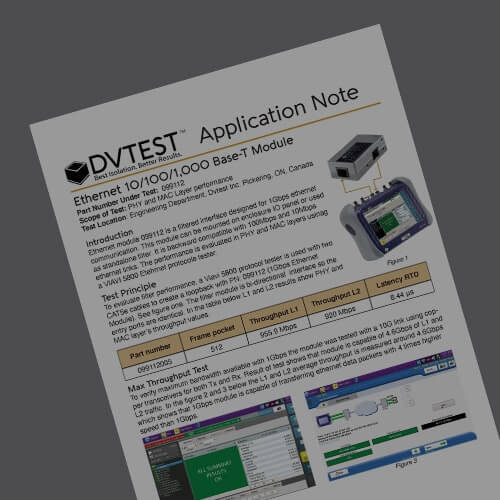 1Gbps Ethernet Module - Technical Performance Application Note