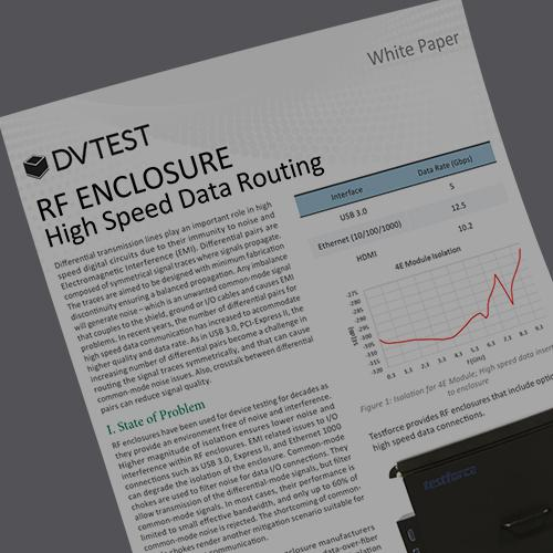 RF Test Enclosure High-Speed Data Routing