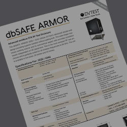 dbSAFE ARMOR Shielded Test Enclosure